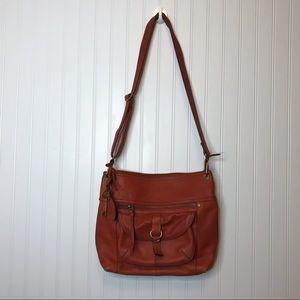 Fossil SASHA Crossbody Messenger Bag Purse Leather